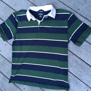L.L. Bean Striped Rugby Shirt, size M
